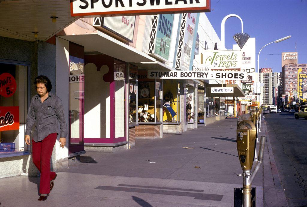 Fremont street in Las Vegas, 1977