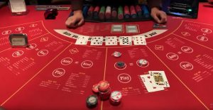 Ultimate Texas Hold'em Table game at casino