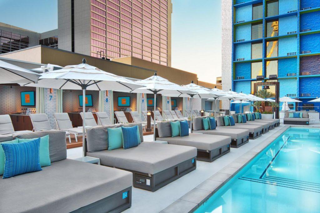Sunbed and Pools, LINQ Hotel las vegas
