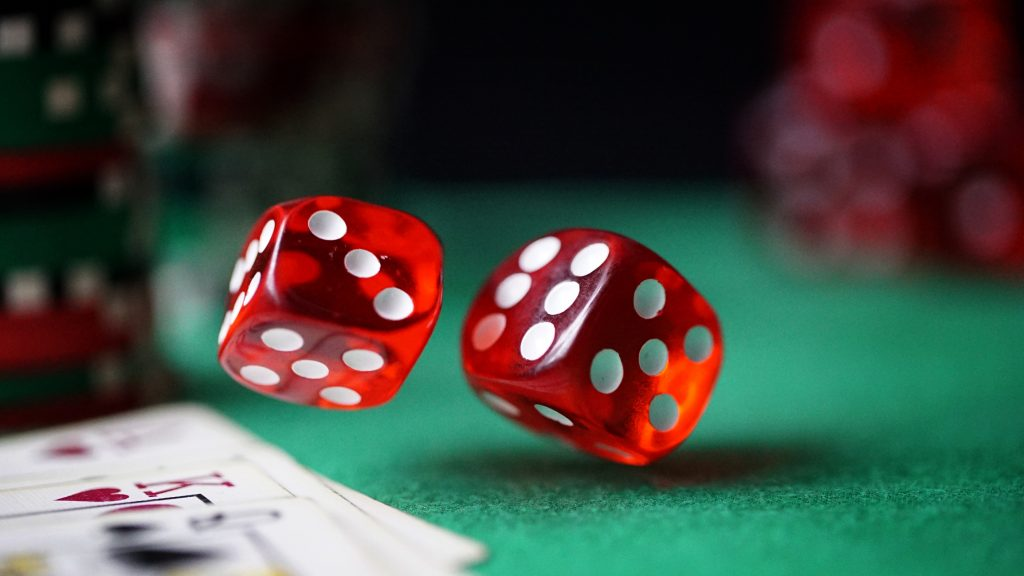 Standard Red Casino Dice