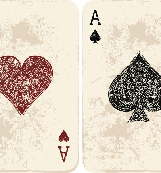 Vintage Deuce Ace Cards