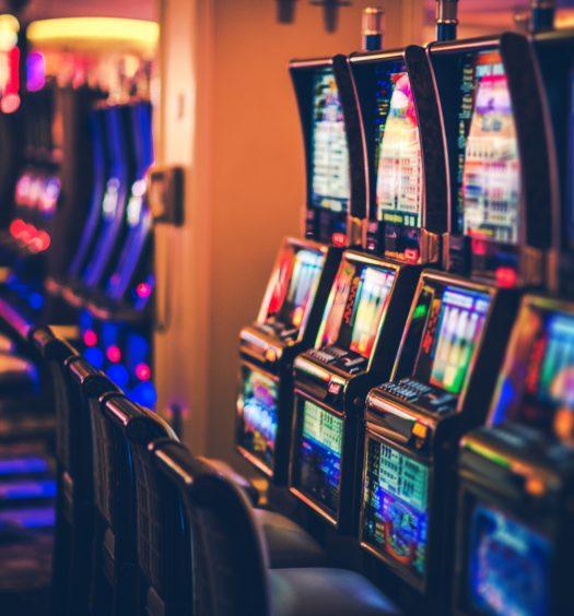 Rows of Casino Slot Machines