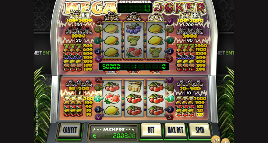 Mega Joker by NetEnt, Classic styled Fruit Machine