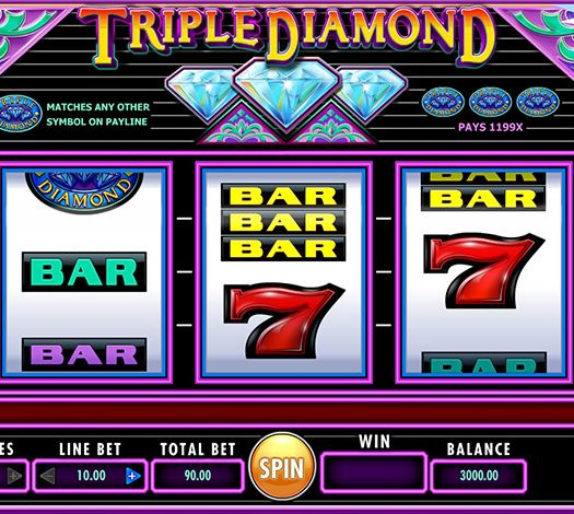 Triple Diamond by IGT, 3 Reel Classic Slot style