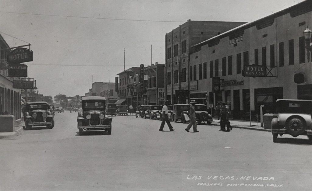 1931 - Fremont Street at Main, Las Vegas