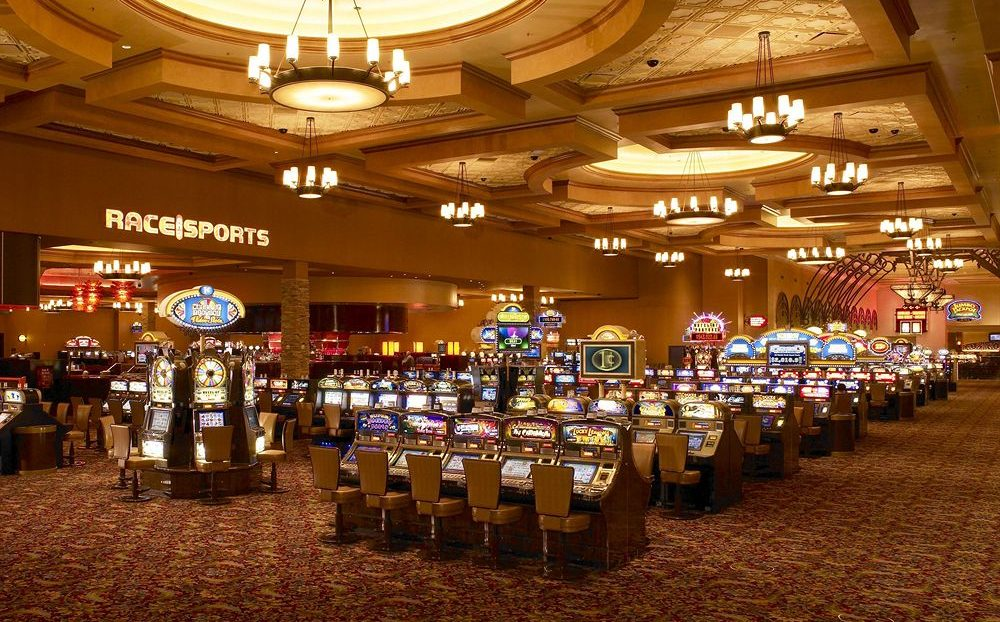Santa Fe Station Las Vegas Casino Slots Area with Race Sport at the back