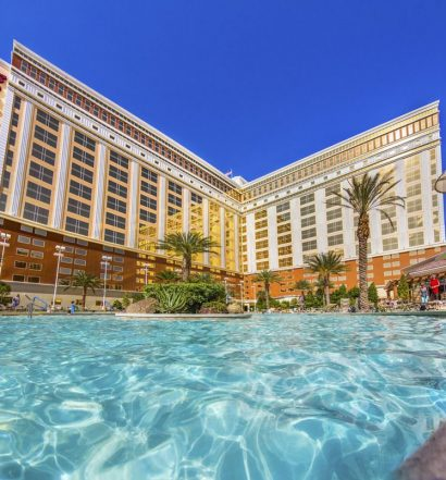 South Point Las Vegas Hotel and Casino | Frontal View with the Pool