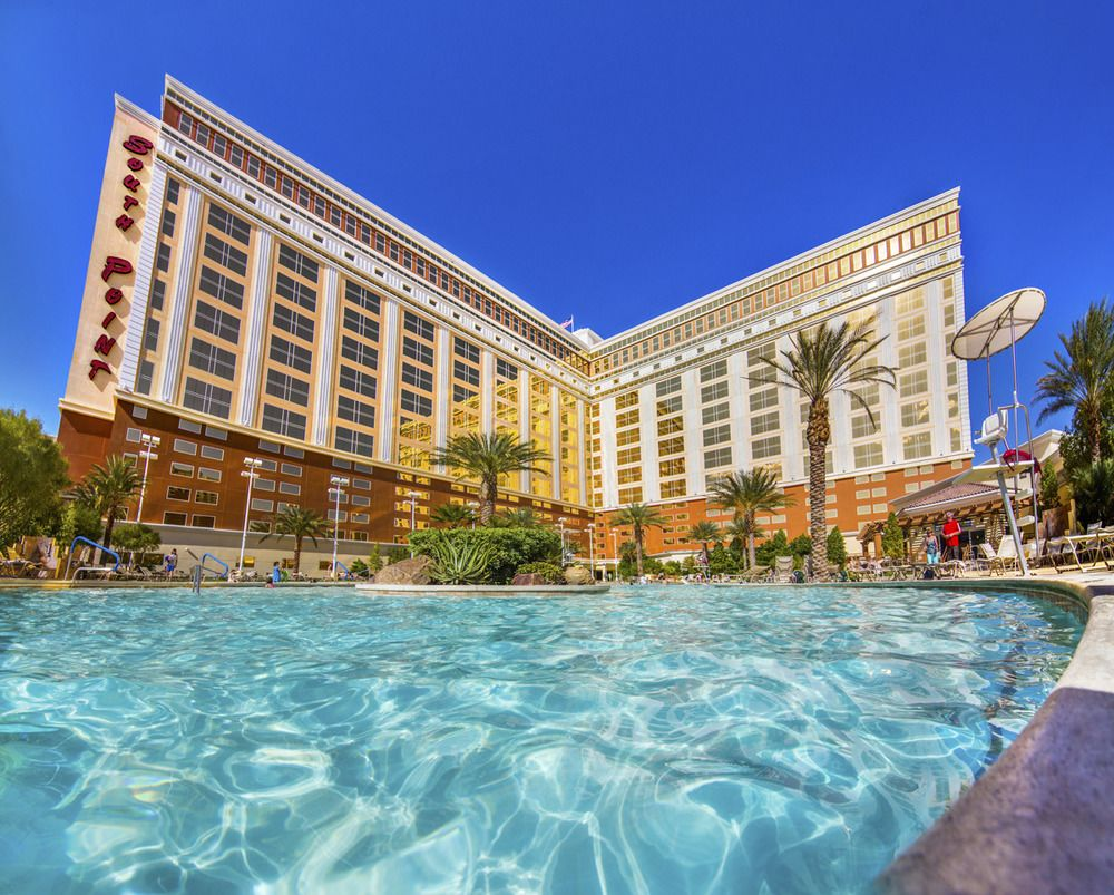 South Point Las Vegas Hotel and Casino Frontal View with the Pool