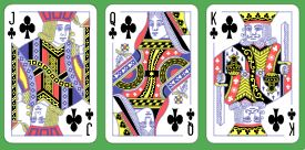 3 Card Clubs Straight Flush Jack to King