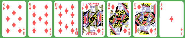 7 Card royal straight flush