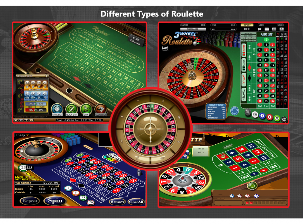 Different types of Roulette