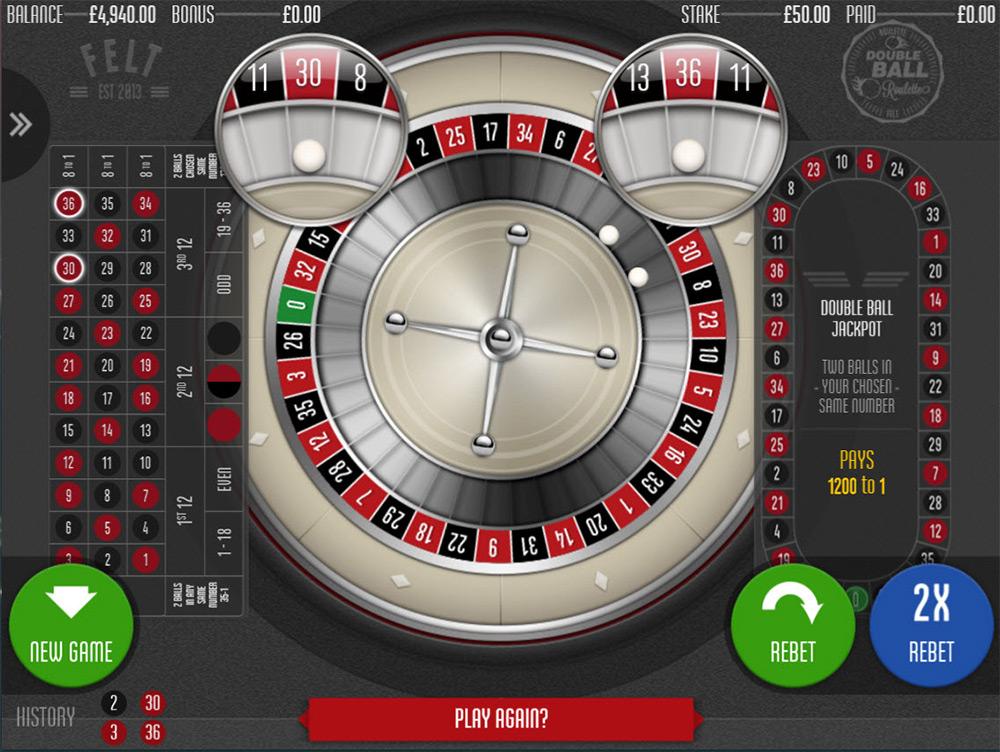 Felt Gaming | Double Ball Roulette