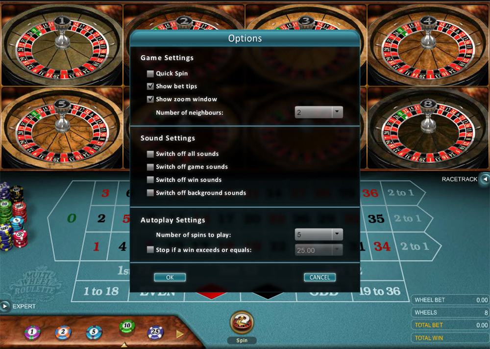Microgaming | Multi Wheel Roulette Options