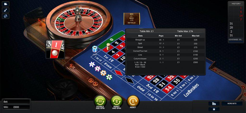 Playtech | Premium Roulette European Table Limits