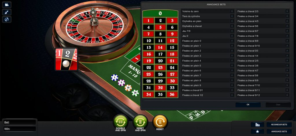 Playtech | Premium French Announce Bets Roulette