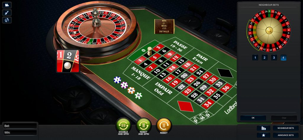 Playtech | Premium French Roulette Neighbour Bets