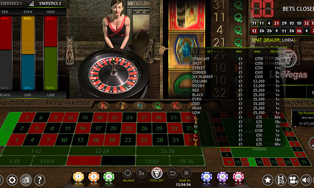 Xtreme Live Gaming   Ra Roulette Bets