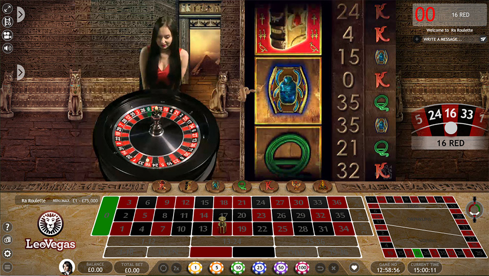 Xtreme Live Gaming   Ra Roulette Preview