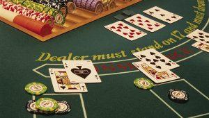 Classic blackjack table