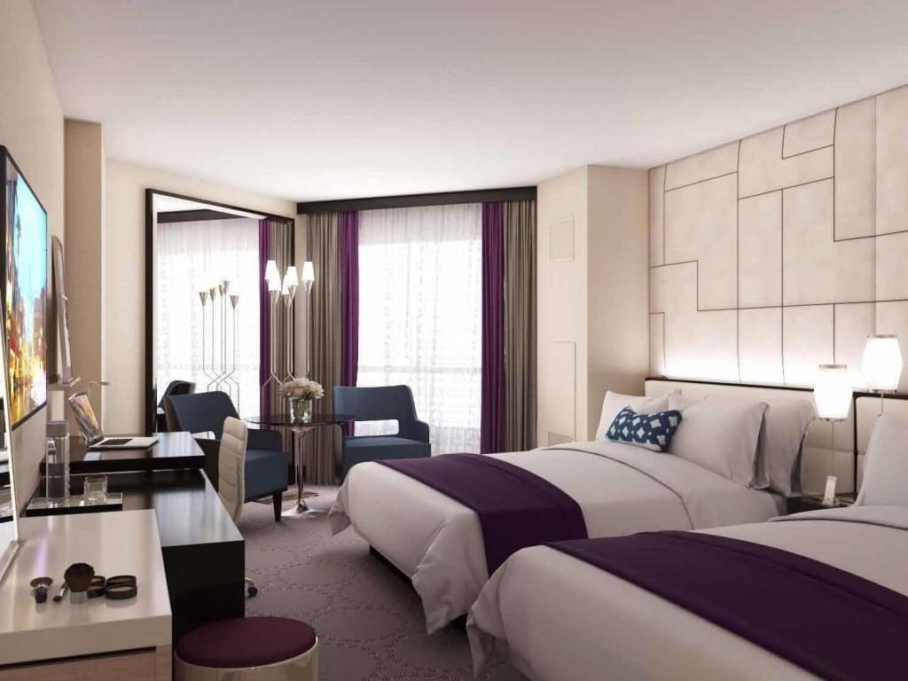 Harrah's Las Vegas Hotel Double bedroom