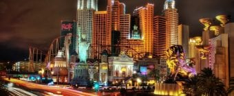 NEW YORK NEW YORK LAS VEGAS night vieww