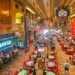 The Orleans Las Vegas Casino Mixture of Table games and Slots in one area