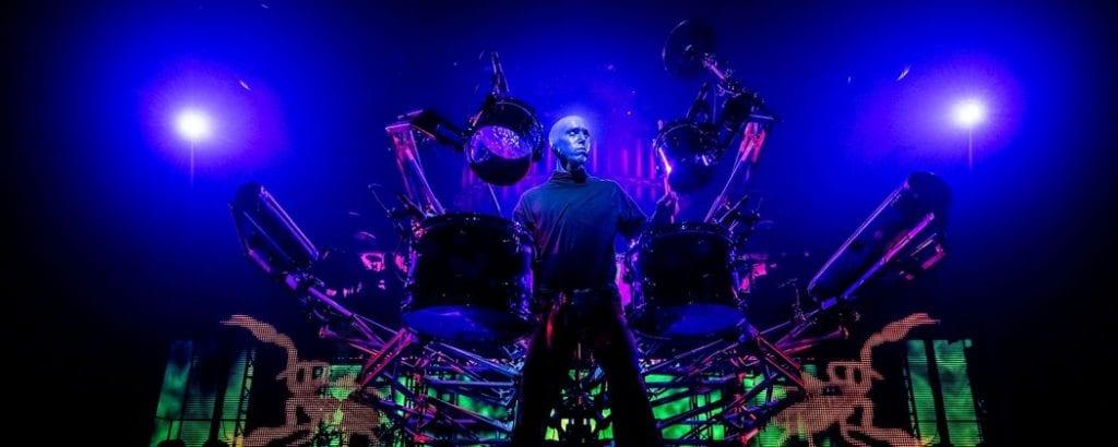 blue man group las vegas spider drum