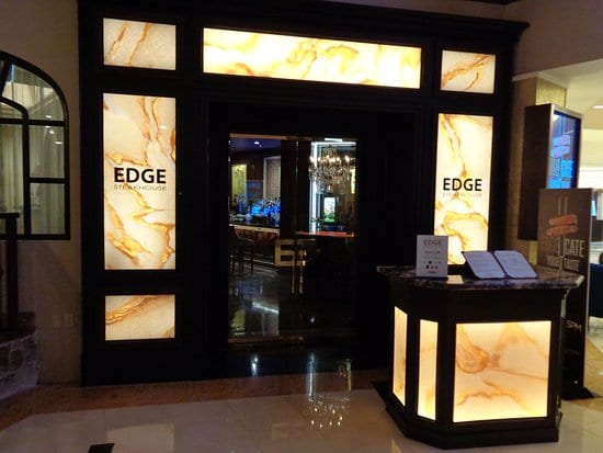 edge steakhouse entrance