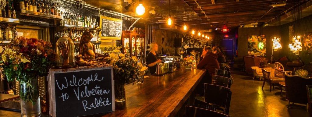 Velveteen Rabbit Las Vegas bar from entrance